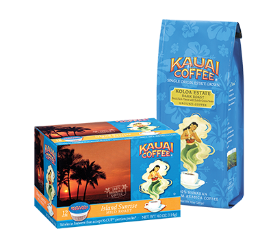 Kuaui Coffee: Ground and Single-Serve Pods
