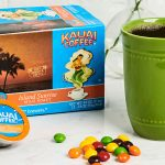 Island Sunrise Coffee and chewy fruit halloween candy