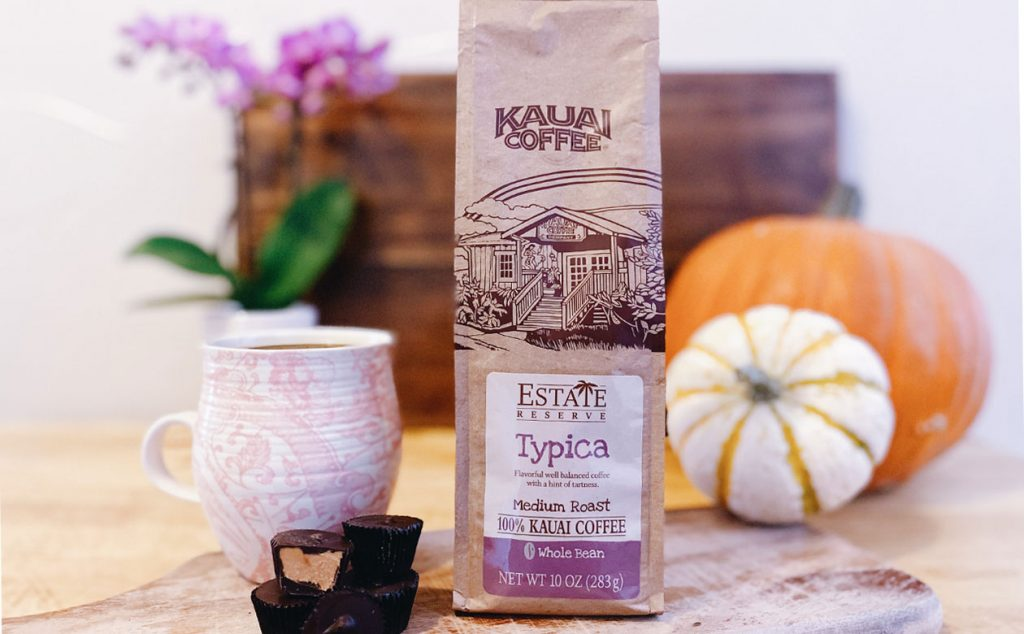 Kauai Coffee Estate Reserve Typica and chocolate peanut butter candy