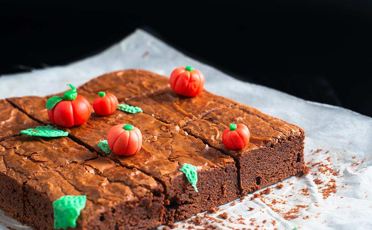 Coffee and chocolate are a tasty pair in these Scary Good Kauai Coffee Brownies