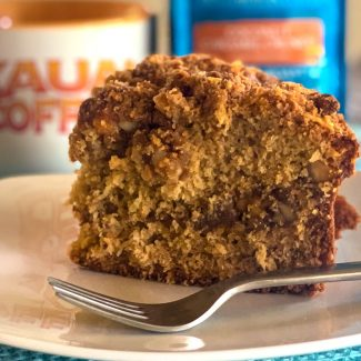 coconut caramel crunch coffee cake