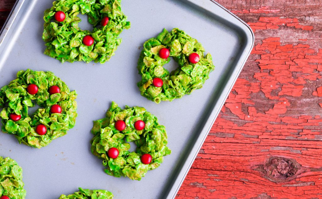 cornflake wreath cookies pair wonderfully with Kauai Coffee. Make a batch to share with friends and 'ohana.