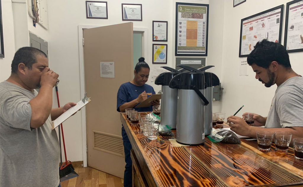 Cupping and quality control behind the scenes