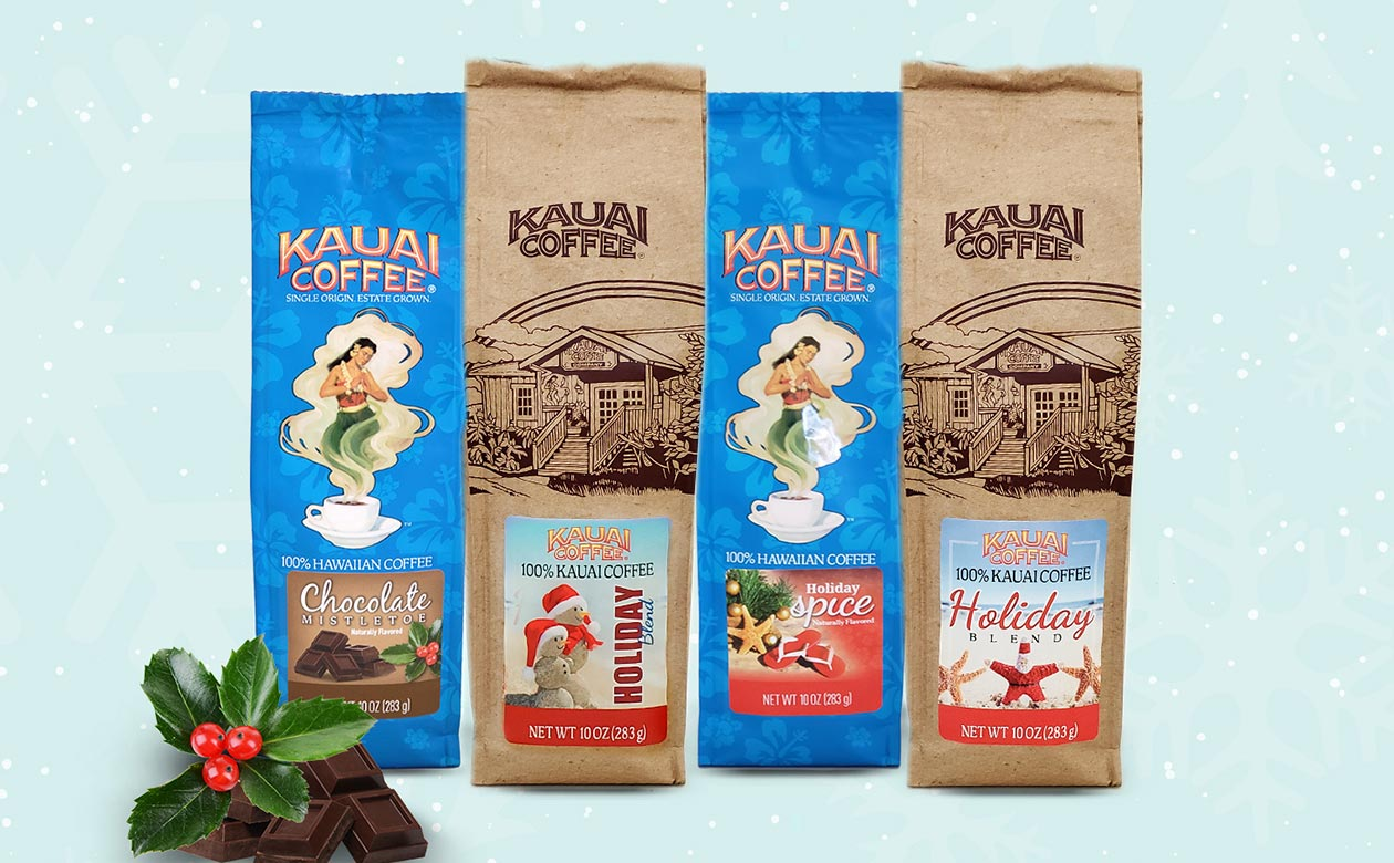 kauai coffee holiday flavors 2019