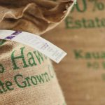 kauai coffee burlap bag
