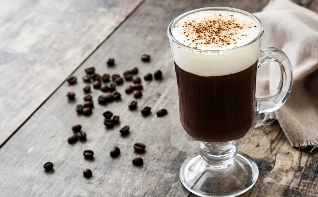 traditional irish cream coffee