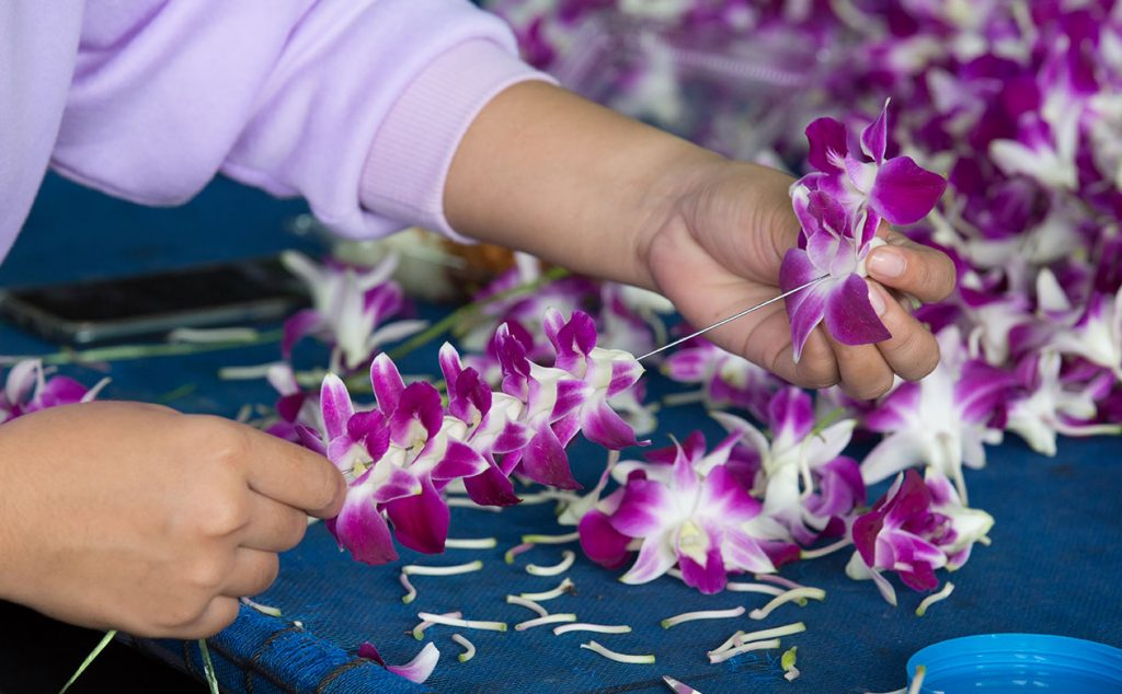 Lei making is an activity you can do with friends online. It's a great way to share aloha and celebrate safely