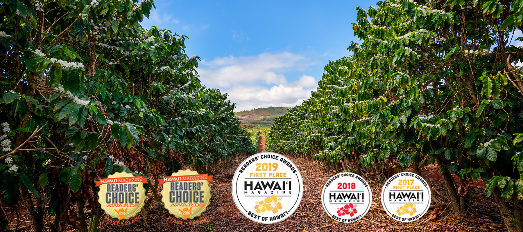Kauai Coffee wins best Best Coffee in Hawaii Magazine Reader's Choice Awards