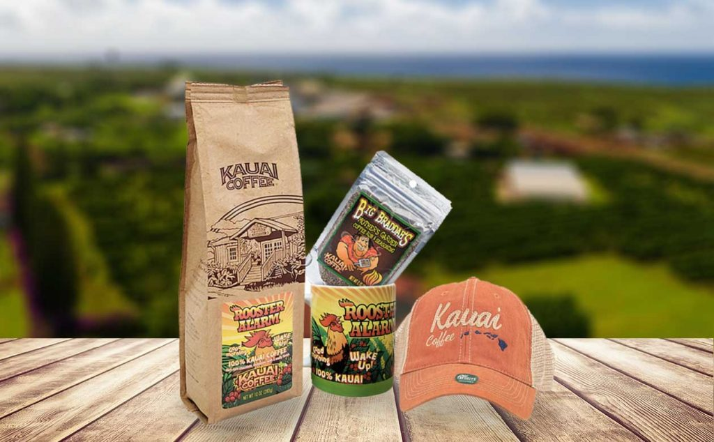 kauai coffee rooster alarm gift set for dads and recent grads