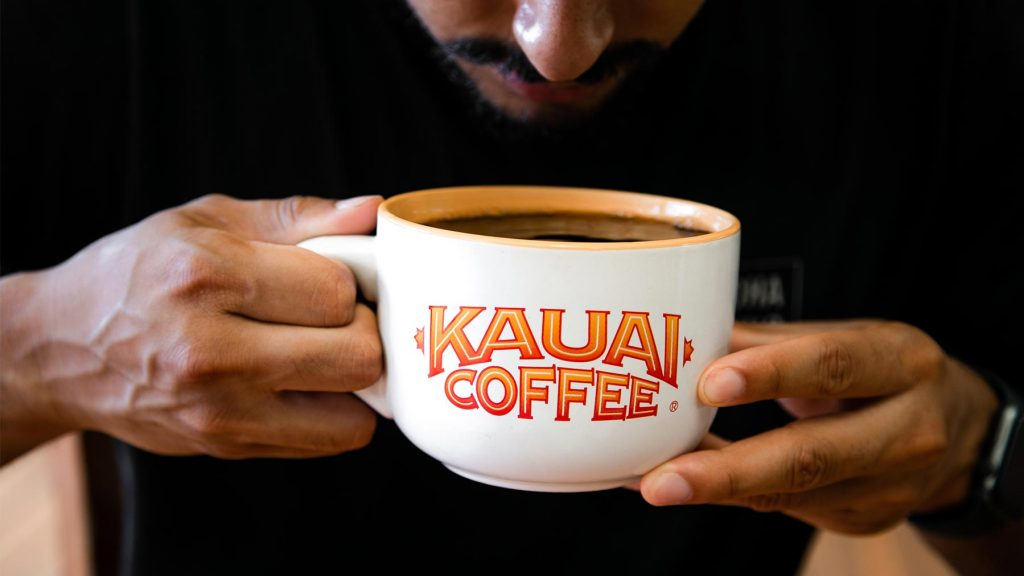 kauai coffee mug with single origin coffee