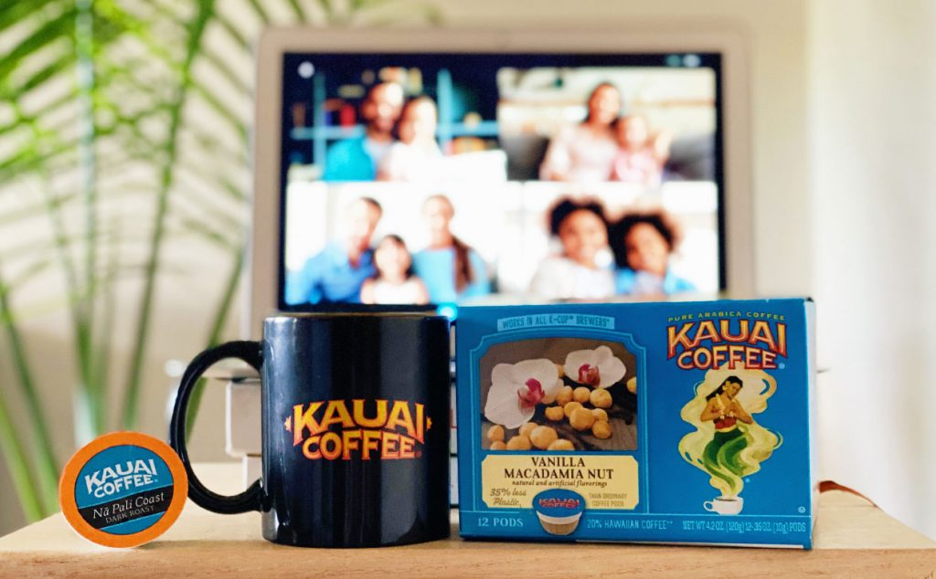 Share aloha and celebrate safely with kauai coffee! Buy five 12-count single serve boxes and get one free!