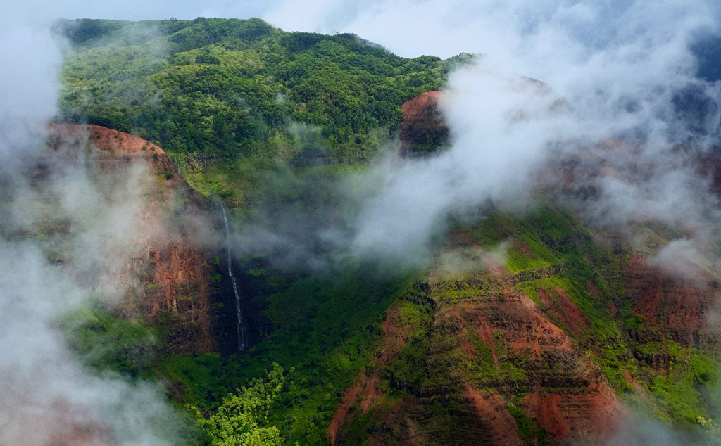 abundant mountain rain on kauai